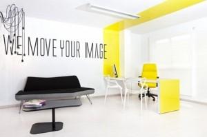 Utiliza tu creatividad para plasmar en tu oficina lo que quisieras que tu marca represente (Imagen de: http://interiores.alterblogs.com)